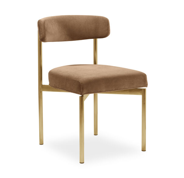 REMY DINING CHAIR - BRUSHED BRASS, BOULEVARD - AUBURN, hi-res