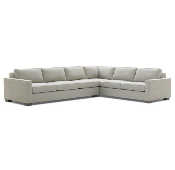 CARSON RIGHT SECTIONAL, COSTA - SILVER, hi-res