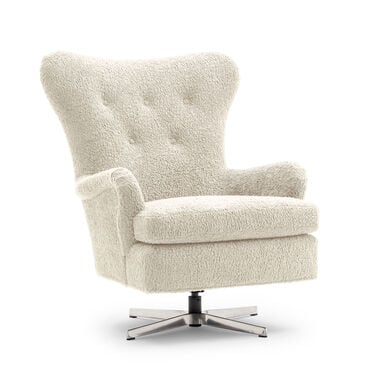 ORSON SWIVEL CHAIR, SHERPA - NATURAL, hi-res