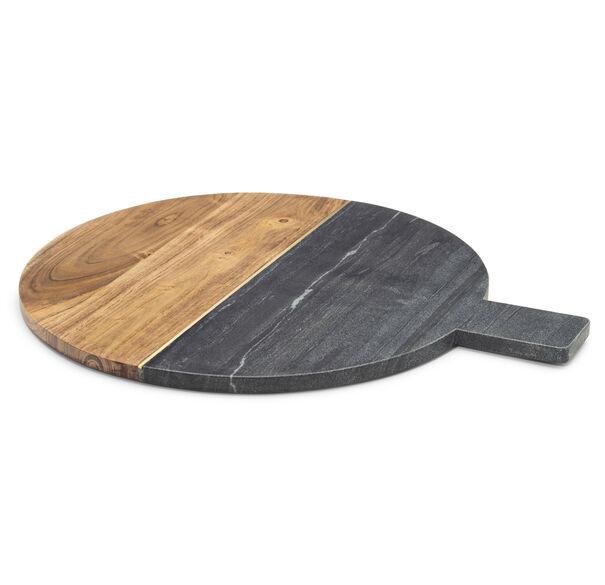 GRAY MARBLE AND ACACIA WOOD SERVING BOARD, , hi-res
