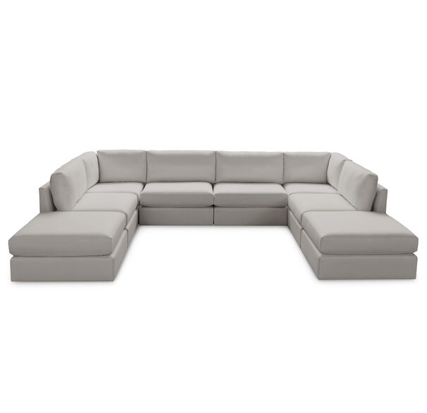 FRANCO II 8 PIECE SECTIONAL, TERRACE - PEWTER, hi-res