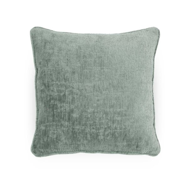 "CHENILLE 17"" X 17"" WELT ACCENT PILLOW, INDIE - EUCALYPTUS, hi-res"