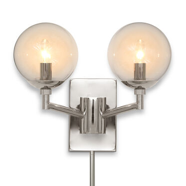 SAVOY SCONCE - POLISHED NICKEL, , hi-res
