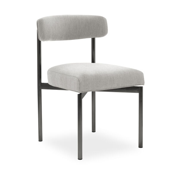 REMY DINING CHAIR - PEWTER, Sunbrella Performance Basket Weave - PEWTER                             , hi-res