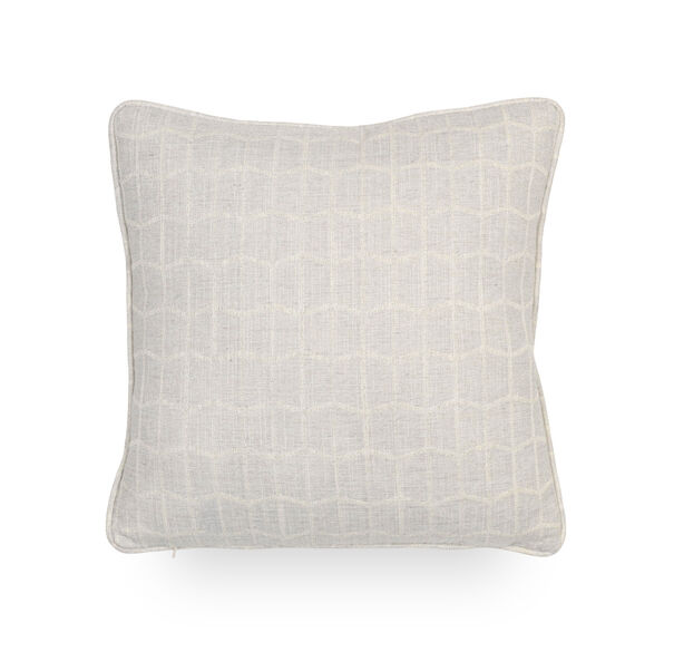 17 IN. SQUARE THROW PILLOW, HADLEY - SILVER, hi-res