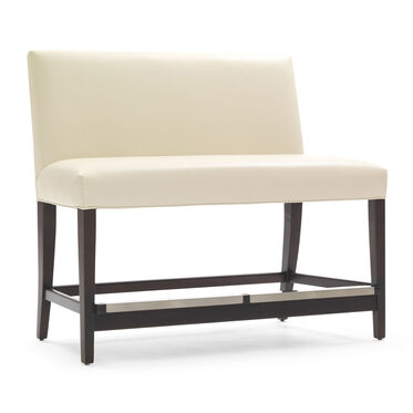 ANTHONY LEATHER COUNTER BENCH, TRIBECA - CREAM, hi-res