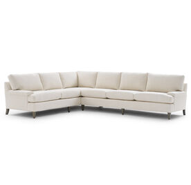 COLTON RIGHT SECTIONAL, Performance Lustrous Basket Weave - CREAM, hi-res