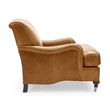 LONDON LEATHER CHAIR, MONT BLANC - FAWN, hi-res