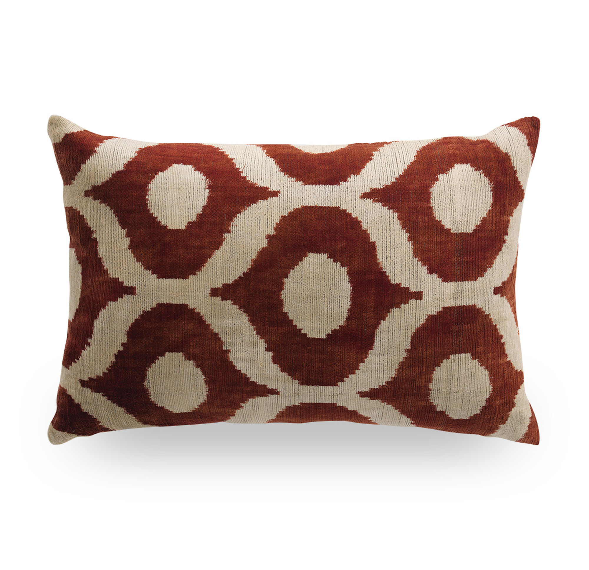 Mitchell Gold Decorative Pillows : IKAT OGEE THROW PILLOW