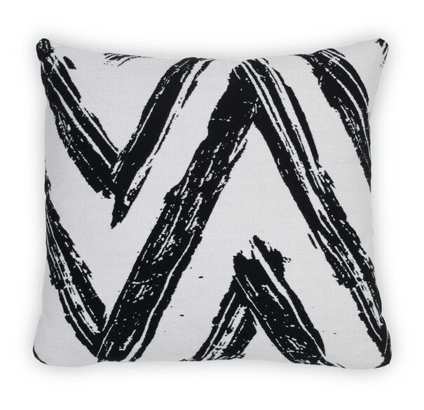 "22"" SQUARE DOWN ACCENT PILLOW, KANO - BLACK & WHITE, hi-res"