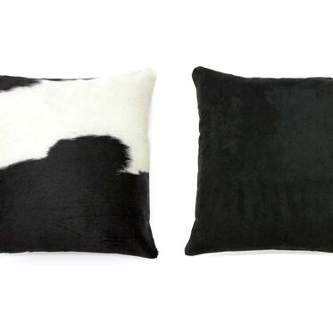 17 IN. SQUARE HAIR ON HIDE THROW PILLOW, , hi-res