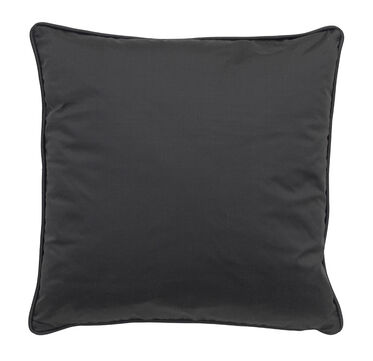 17 IN. SQUARE THROW PILLOW, DECADENCE - CHARCOAL, hi-res