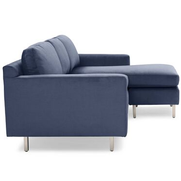 HUNTER STUDIO NO WELT 95 RIGHT CHAISE SECTIONAL, PIPPIN - NAVY, hi-res