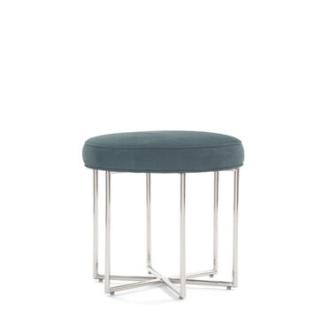 ASTRA LEATHER PULL-UP STOOL, NUBUCK - MARINE, hi-res