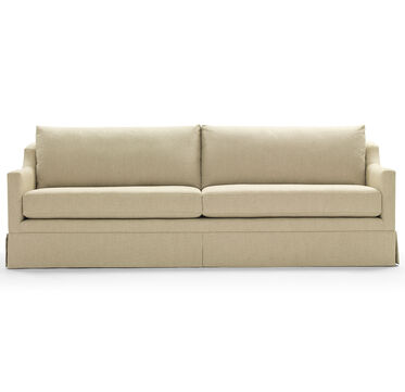 GIGI SKIRTED SOFA, LINEN - BEIGE, hi-res