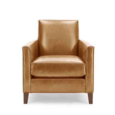 AIDEN LEATHER CHAIR, MONT BLANC - FAWN, hi-res