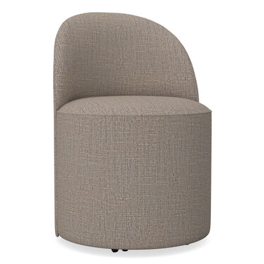 MARGAUX SIDE CHAIR, Textured Weave - DARK TAUPE, hi-res