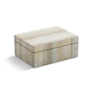 NATURAL FAUX ONYX LACQUER BOX, , hi-res