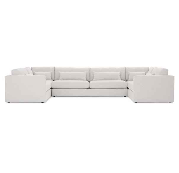 HAYWOOD U- SECTIONAL, SOL - SILVER, hi-res