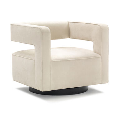 NICO RETURN SWIVEL CHAIR, SOFT SUEDE - STONE, hi-res