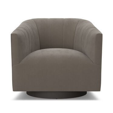 COOPER STUDIO CHANNEL TUFTED SWIVEL CHAIR, VIVID - CAFE, hi-res