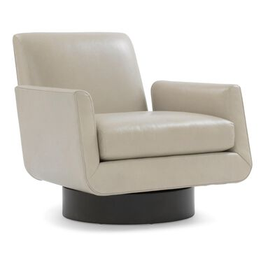 SUPERNOVA LEATHER FULL SWIVEL CHAIR, MONT BLANC - MIST, hi-res