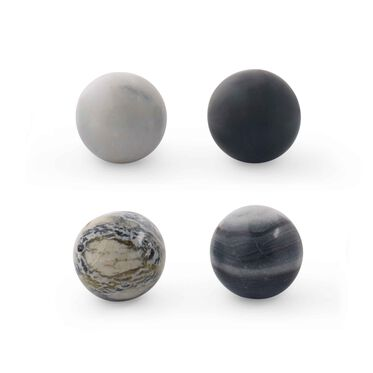 MARBLE WHISKEY SPHERES - SET OF 4, , hi-res