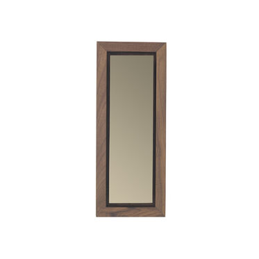 WALNUT SMOKY MEDIUM MIRROR, , hi-res
