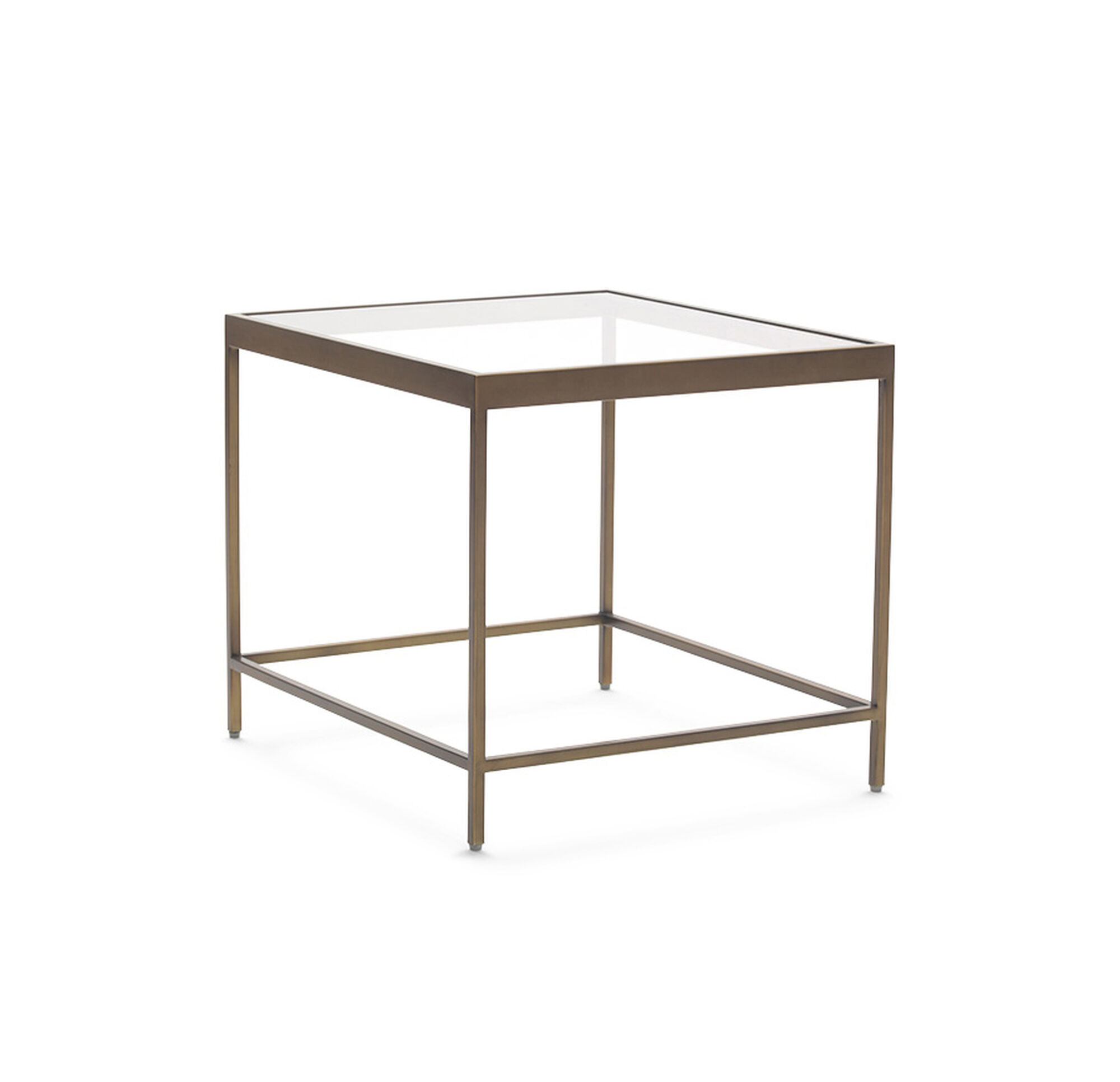 VIENNA SIDE TABLE ANTIQUE BRASS - Brushed brass side table