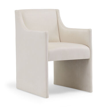 EDIE CHAIR, Performance Velvet Micro Cord - CREAM, hi-res