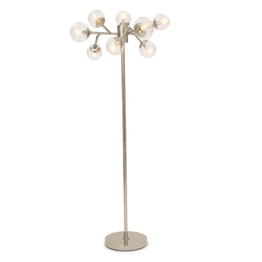 SAVOY FLOOR LAMP - POLISHED NICKEL, , hi-res