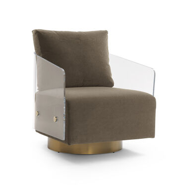 LUCY FULL SWIVEL CHAIR, VIVID - CAFE, hi-res