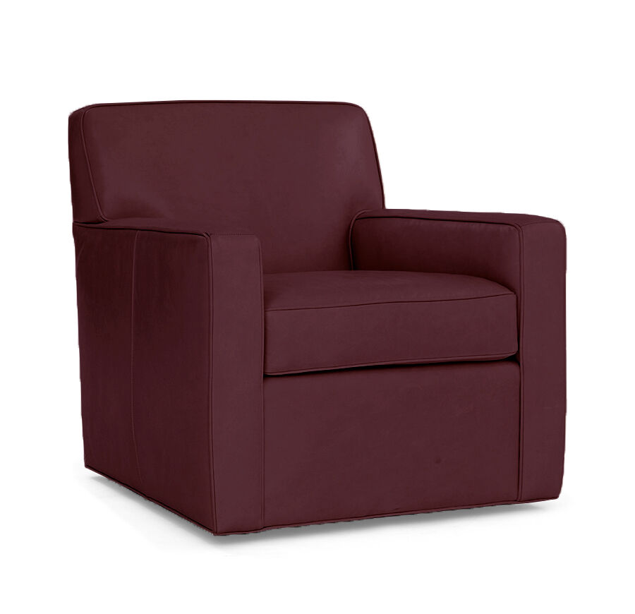 FELIX LEATHER SWIVEL CHAIR, , Hi Res