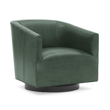 COOPER LEATHER SWIVEL CHAIR, MONT BLANC - RAINFOREST, hi-res