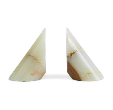 LIGHT GREEN ONYX BOOKENDS, , hi-res