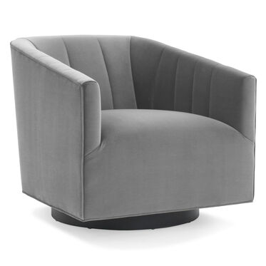 COOPER CHANNEL TUFTED SWIVEL CHAIR, VIVID - SILVER, hi-res