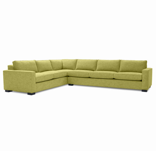 CARSON SECTIONAL SOFA, HOLLINS - LIME, hi-res
