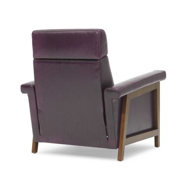 ARLEN ELECTRIC LEATHER RECLINER, MONT BLANC - AUBERGINE, hi-res