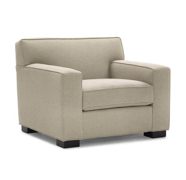 JEAN LUC CHAIR, Performance Textured pebble Weave - FLAX, hi-res