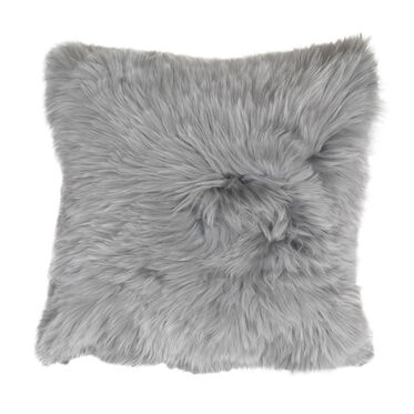 ALPACA 20 IN. SQUARE SILVER THROW PILLOW, , hi-res