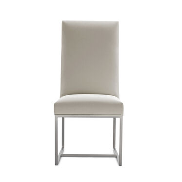 GAGE TALL DINING CHAIR - BRUSHED STAINLESS STEEL, KOKO - STONE, hi-res