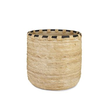 WOVEN BANANA LEAF BASKET- NATURAL, , hi-res