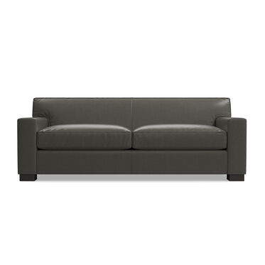 JEAN LUC LEATHER SOFA, MANCHESTER - GRAPHIT, hi-res