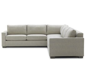 CARSON RIGHT SECTIONAL, Sunbrella Performance Textured Two-Tone Linen - SILVER                             , hi-res