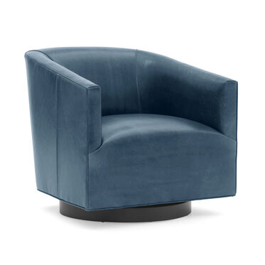 COOPER STUDIO LEATHER SWIVEL CHAIR, MONT BLANC - BLUE SMOKE, hi-res