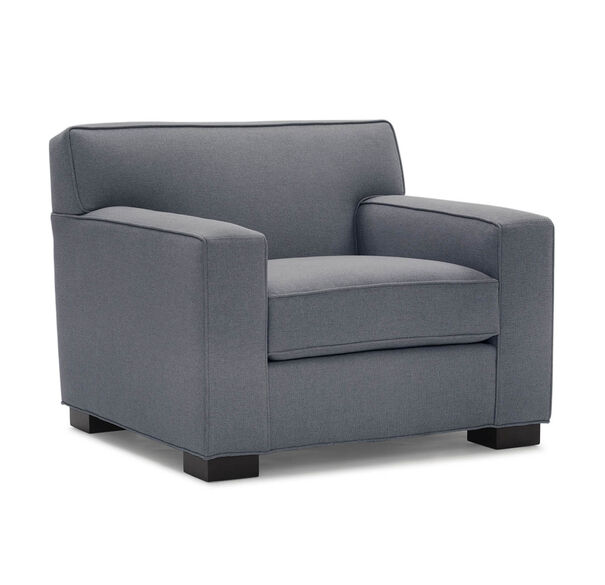 JEAN LUC CHAIR, Performance Textured pebble Weave - SLATE                             , hi-res