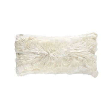 ALPACA 22 X 11 IN. IVORY THROW PILLOW, , hi-res