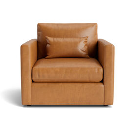 HAYWOOD LEATHER CHAIR, Mont Blanc - Italian Leather - Fawn, hi-res