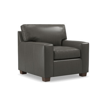 ALEX LEATHER CHAIR, MANCHESTER - GRAPHIT, hi-res