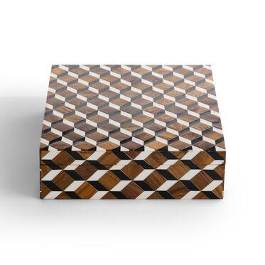 CHECKERED LARGE BOX, , hi-res